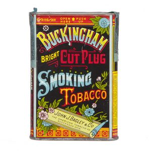 Buckingham Bright Cut Plug Tobacco Tin