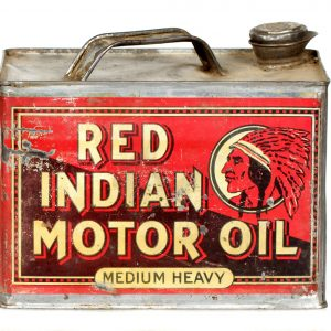 Red Indian Motor Oil Can