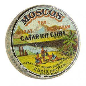 Moscos Catarrh Cure Tin
