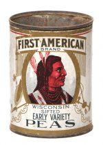 First American Peas Tin