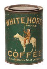 White Horse Coffee Tin