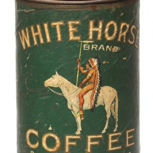 White Horse Coffee Tin