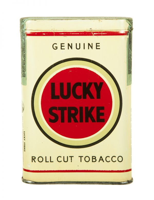 White Lucky Strike Tobacco Tin