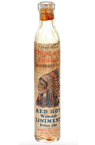 Chipewa Indian Liniment Bottle