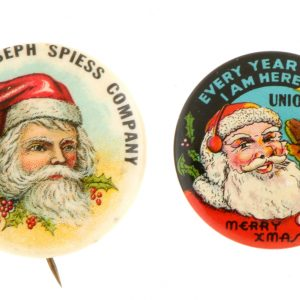 Santa Advertising Pins
