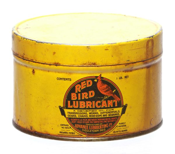 Red Bird Lubricant Can