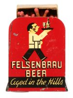 Felsenbrau Beer Matchbox Holder