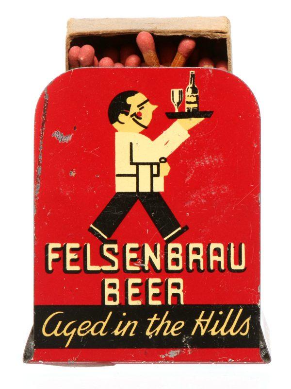 Felsenbrau Beer Matchbox Holder
