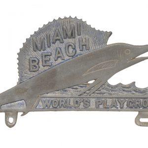 Miami Beach License Plate Topper