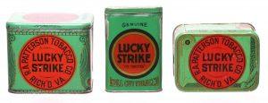 Lucky Strike Tobacco Tins
