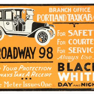 Black & White Taxi Sign