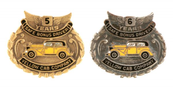 Yellow Cab Uniform Pins
