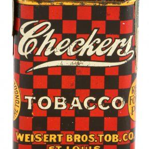 Checkers Tobacco Pocket Tin