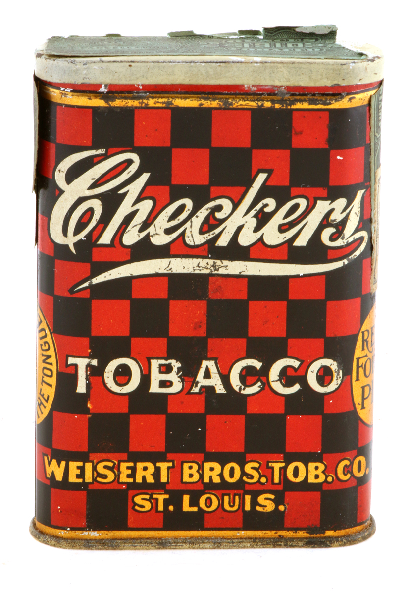 Checkers Tobacco Pocket Tin