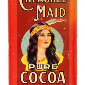 Cherokee Maid Cocoa Tin