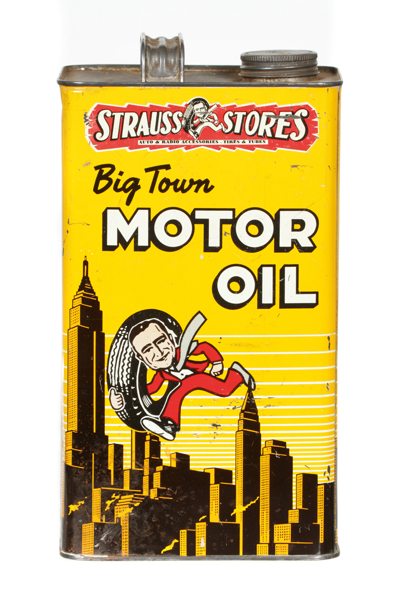 Antique Advertising Big Town Motor Oil Can Antique