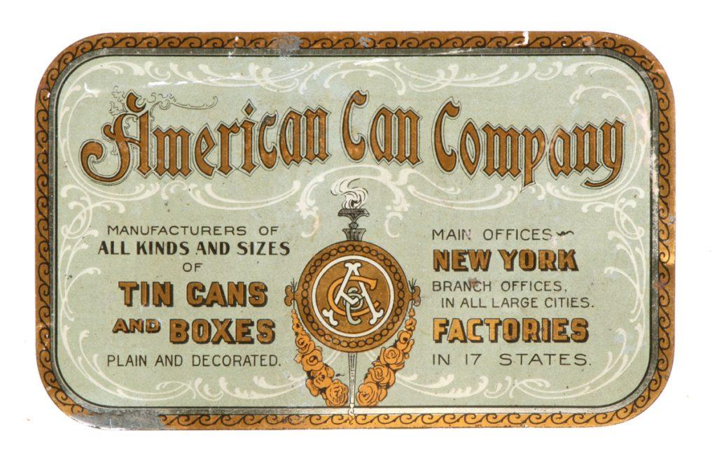 American Can Company Tin Trade Card