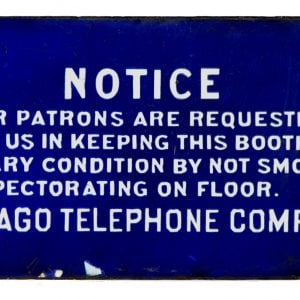 Chicago Telephone Booth Sign
