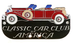 Car Club CloisonnŽ Bumper Tag