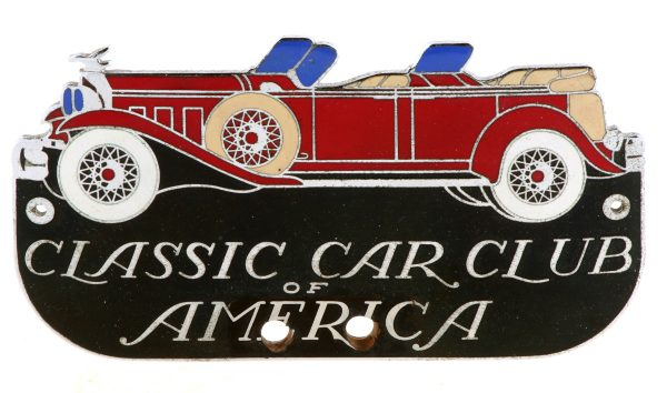 Car Club CloisonnŽ Bumper Tag