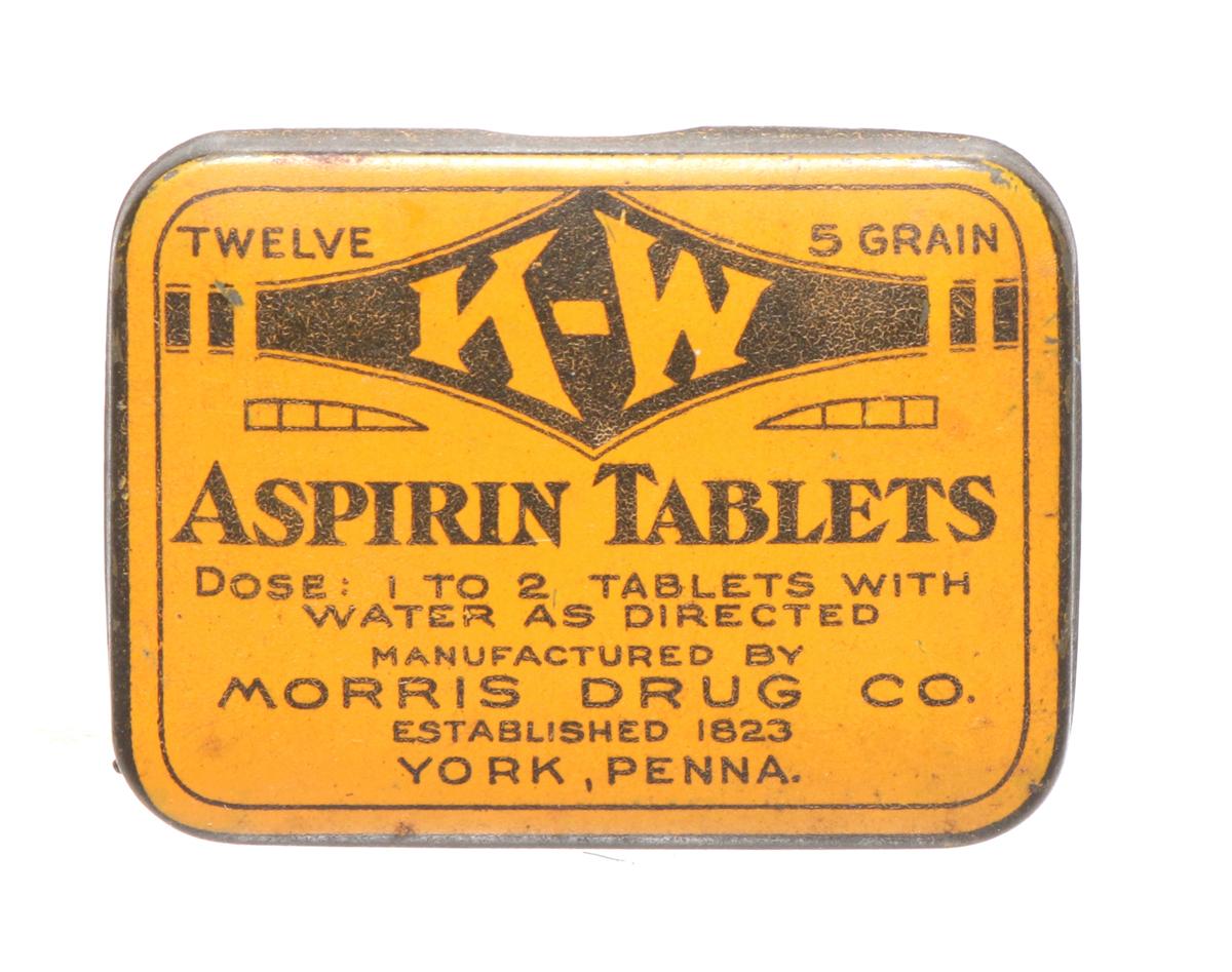 K-W Aspirin Tin