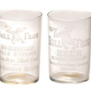 Bull Frog Beer Glasses
