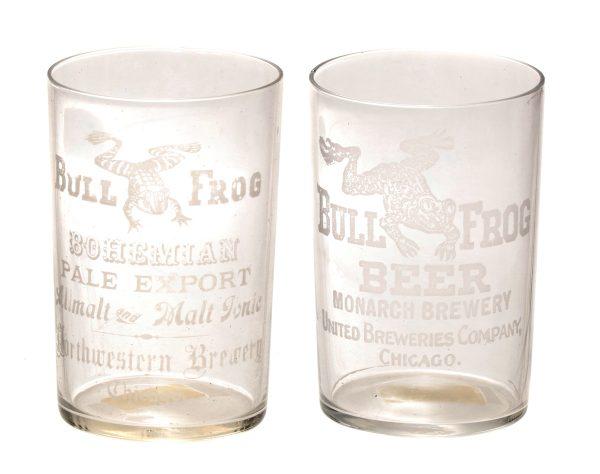 Bull Frog Beer Glasses