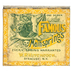 Famous Mainsprings Watch Parts Tin