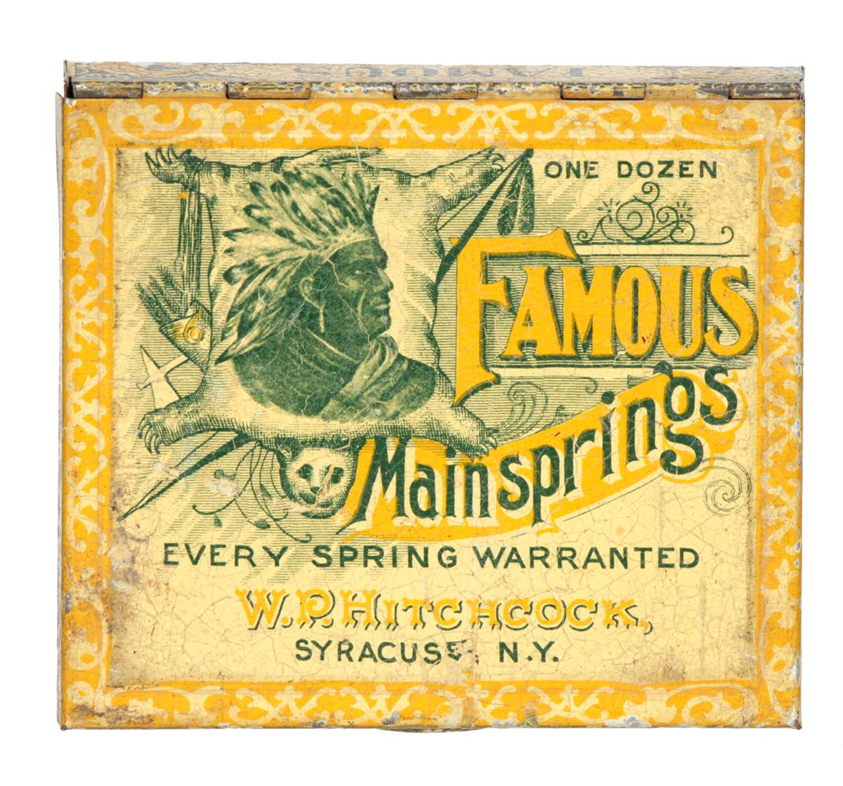 Famous Mainsprings Watch Parts Tin