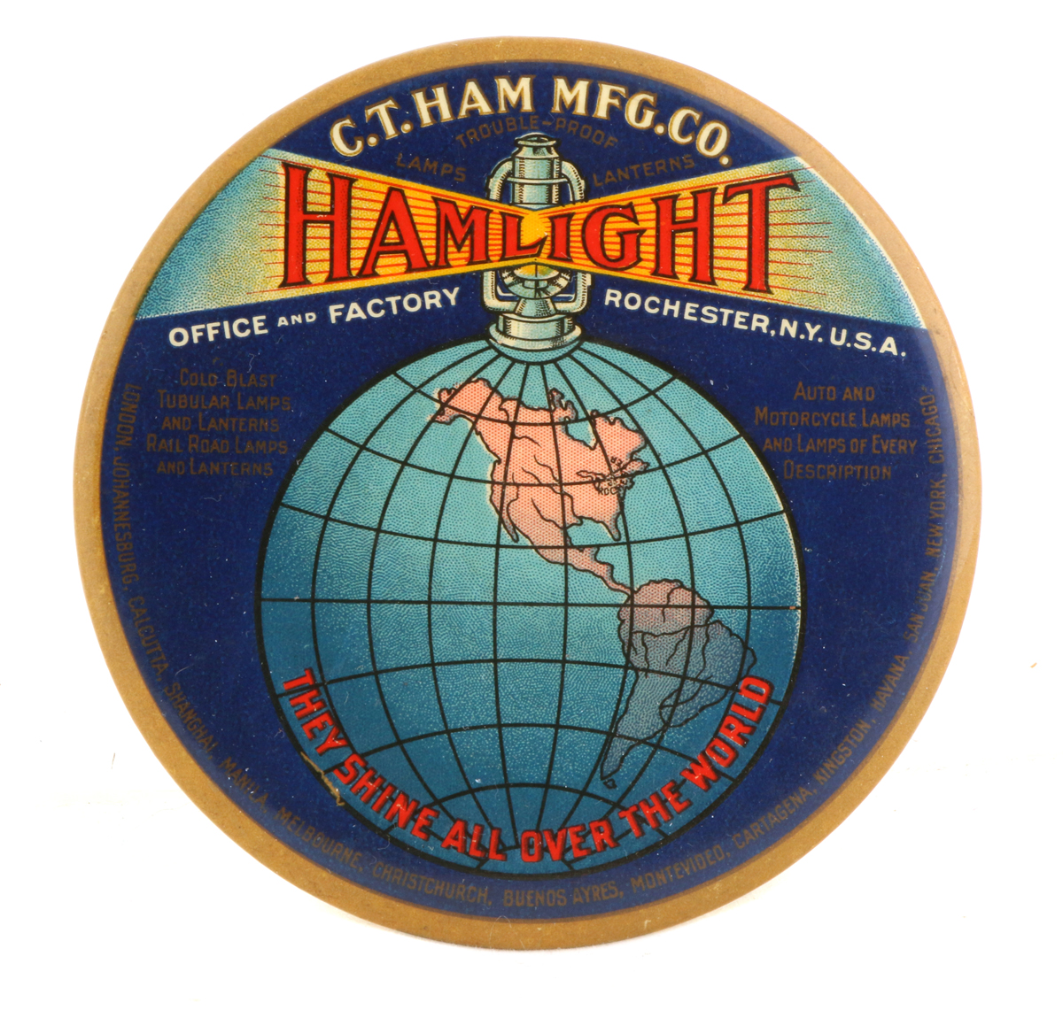 Hamlight Paperweight Mirror