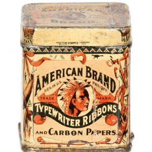 American Typewriter Ribbon Tin