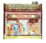 "Large Log Cabin ""Trading Post"" Tin"