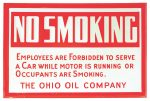 Ohio Oil No Smoking Sign