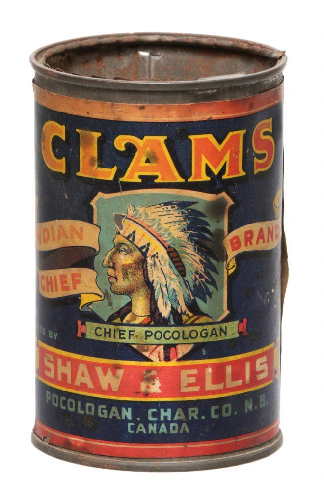 Indian Chief Clams Tin