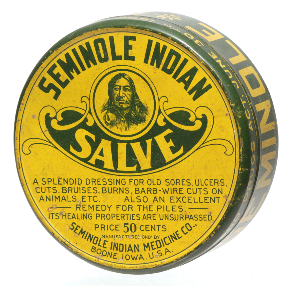Seminole Indian Medicinal Salve Tin
