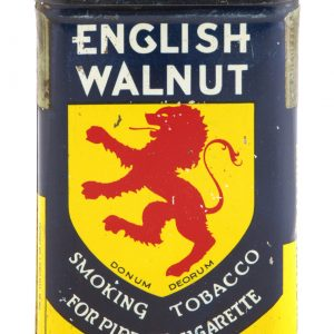 English Walnut Tobacco Tin