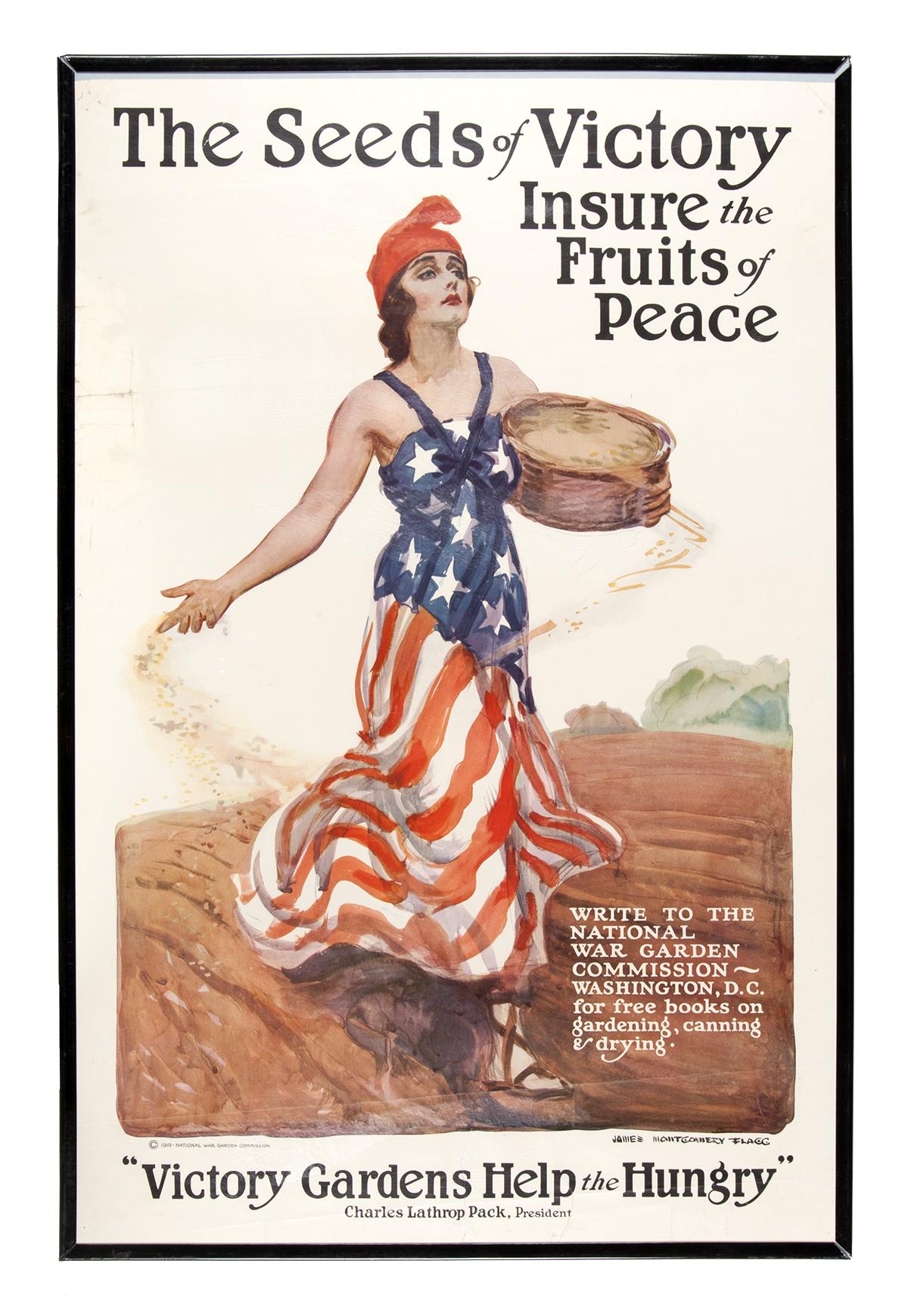 Victory Gardens Patriotic Poster
