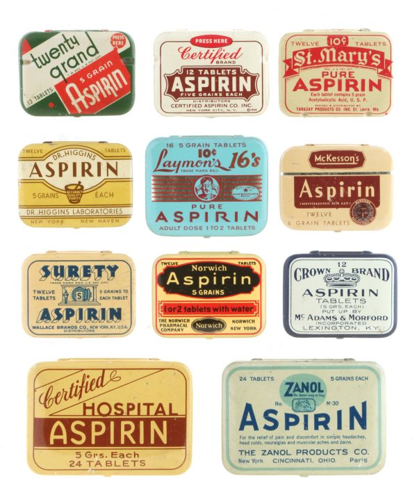 Vintage Aspirin Tins