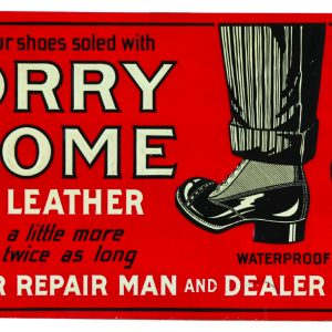 Korry Krome Sole Leathers Sign