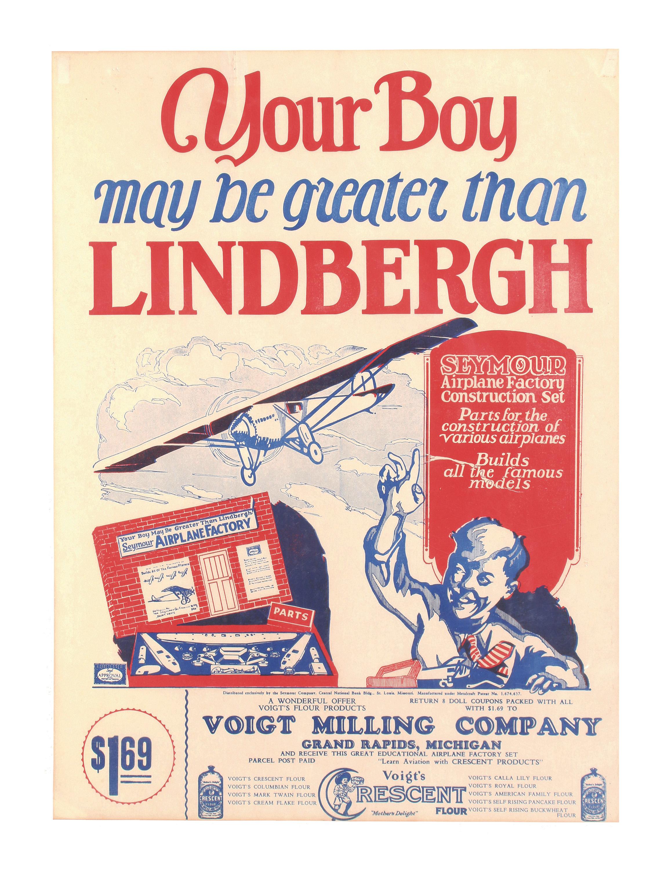 Charles Lindbergh Airplane Toys Poster
