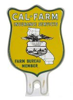 Cal-Farm Insurance Bumper Tag