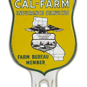 Cal-Farm Insurance Bumper Tag