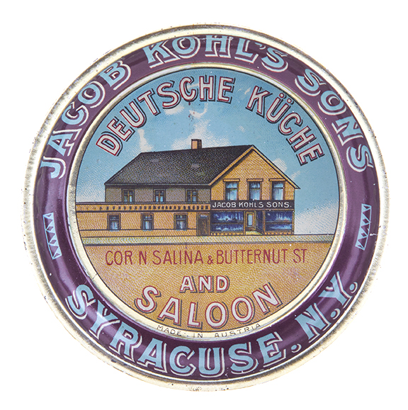 Jacob Kohl's Sons Saloon Tip Tray