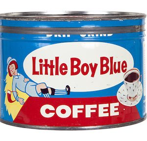 Little Boy Blue Coffee Can