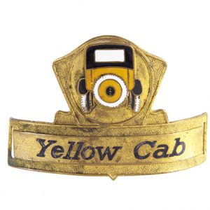 Yellow Cab Taxi Cap Badge