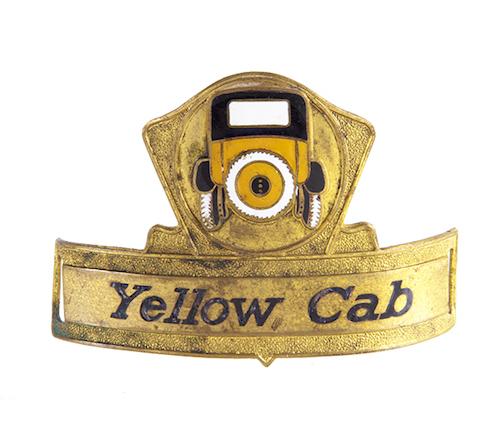 Yellow Cab Taxi Cap Badge