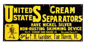 United States Cream Separators Sign