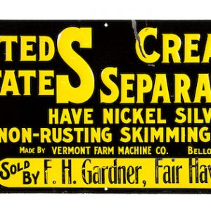 United States Cream Separators Sign