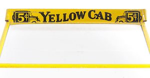 Yellow Cab Cigar Box Cover