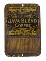 New Government Java Coffee Match Holder